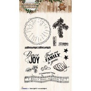 Studio Light Clearstempel A6 Woodland Winter nr 193 STAMPWW193 (07-17)