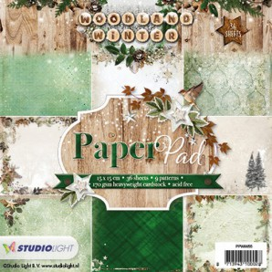 Studio Light Paper pad 36 vel 12 designs Woodland Winter nr 55 PPWW55 15x15cm (07-17)