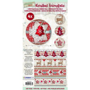 Studio Light Kerstbal krimpfolie - Scandinavian winter 07 SHRINKSD07 (07-17)