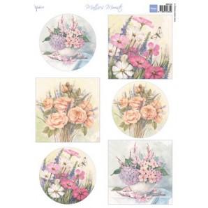 Marianne D 3D Knipvellen Mattie wilde bloemen MB0164 A4 (02-17)