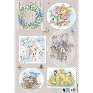 Marianne D 3D Knipvellen Country flowers 1 EWK1247 A4 (02-17)