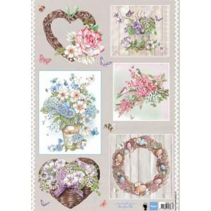 Marianne D 3D Knipvellen Country flowers 2 EWK1248 A4 (02-17)