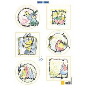 Marianne D 3D Knipvellen Colourful birds MM1601 (09-16)