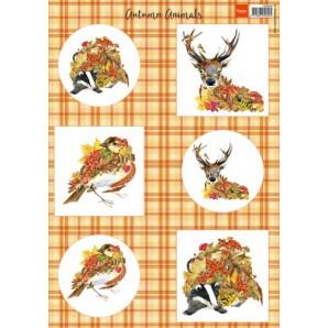 Marianne D 3D Knipvellen herfst dieren - hert A4 VK9545 (08-16)