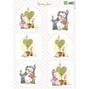 Marianne D 3D Knipvellen Bunny love 2 VK9552 A4 (01-17)