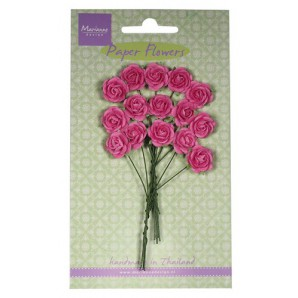 Marianne D Decoration Roses - bright pink  RB2246 (New 03-16)
