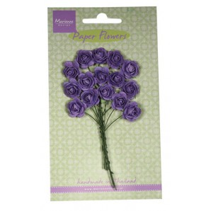 Marianne D Decoration Roses - dark lavender  RB2249 (New 03-16)