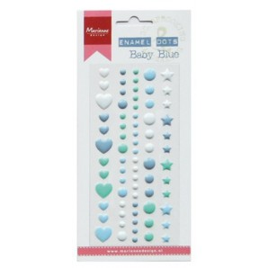 Marianne D Decoration Enamel dots - Baby blue PL4513 (09-16)