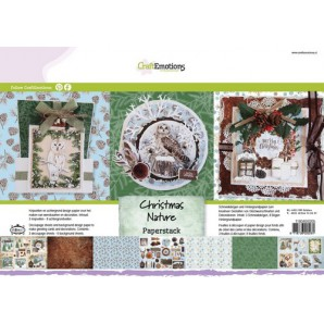 CraftEmotions Paper stack Christmas Nature 11 vel A4 (07-16)