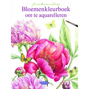 Kosmos Boek Bloemenkleurboek om te aquarelleren Brinkman-Salentijn, Jannek (11-16)