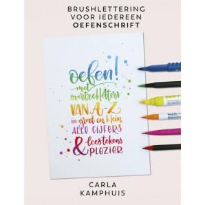 Kosmos Boek - Kleur! Brushlettering oefenschrift Kamphuis (10-17)