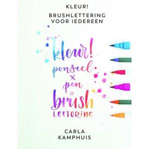 Kosmos Boek - Kleur! Brushlettering voor iedereen Kamphuis, C. (10-17)