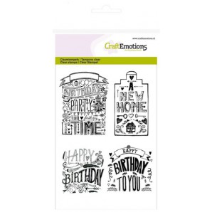 CraftEmotions clearstamps A6 - new home handlettering (Eng)