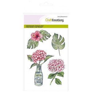 CraftEmotions clearstamps A6 - Hortensia met fles (06-17)
