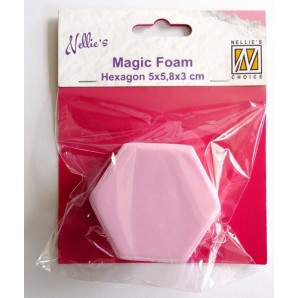 Nellies Choice Mixed Media Magic Foam hexagon shape NMMF005 5cmx5,8cm thick 3cm