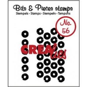 Crealies Clearstamp Bits&Pieces no. 56 grunge big dots 5x38 - 21x42mm / CLBP56 (10-16)