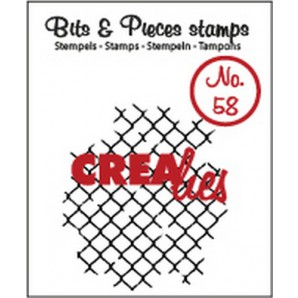 Crealies Clearstamp Bits&Pieces no. 58  thin mesh 37x42mm / CLBP58 (10-16)