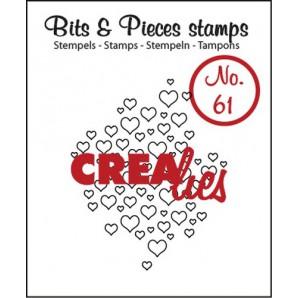 Crealies Clearstamp Bits&Pieces no. 61 open hartjes 35x43mm / CLBP61 (04-17)