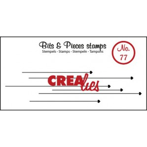 Crealies Clearstamp Bits&Pieces no. 77 22x93mm / CLBP77 (04-17)