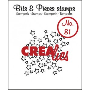 Crealies Clearstamp Bits&Pieces no. 81 open stars 34x36mm / CLBP81 (07-17)