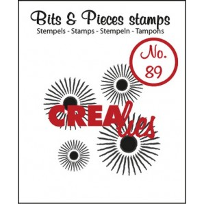 Crealies Clearstamp Bits&Pieces no. 89 4x sun 37x38 mm / CLBP89 (07-17)