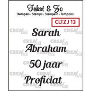 Crealies Clearstamp Tekst&Zo Jarig 13 (NL) 33mm / CLTZJ13
