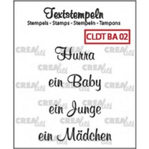 Crealies Clearstamp Tekst (DE) Baby 02 max 33mm  / CLDTBA02 (10-16)