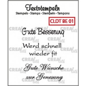 Crealies Clearstamp Tekst (DE) Besserung 01 max 33mm  / CLDTBE01 (10-16)