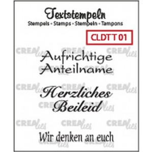 Crealies Clearstamp Tekst (DE) Teilname 01 max 33mm  / CLDTT01 (10-16)