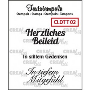 Crealies Clearstamp Tekst (DE) Teilname 02 max 33mm  / CLDTT02 (10-16)