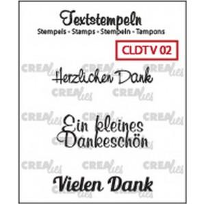 Crealies Clearstamp Tekst (DE) Viel 02 max 33mm  / CLDTV02 (10-16)