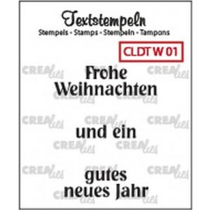 Crealies Clearstamp Tekst (DE) Weihnachten 01 max 33mm  / CLDTW01 (10-16)