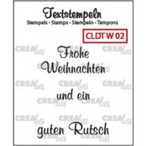 Crealies Clearstamp Tekst (DE) Weihnachten 02 max 33mm  / CLDTW02 (10-16)
