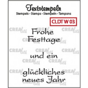 Crealies Clearstamp Tekst (DE) Weihnachten 03 max 33mm  / CLDTW03 (10-16)