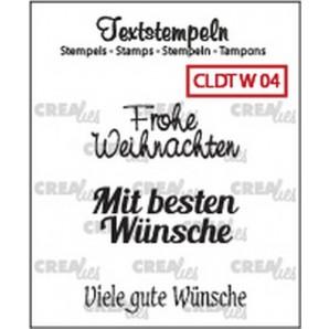 Crealies Clearstamp Tekst (DE) Weihnachten 04 max 33mm  / CLDTW03 (10-16)