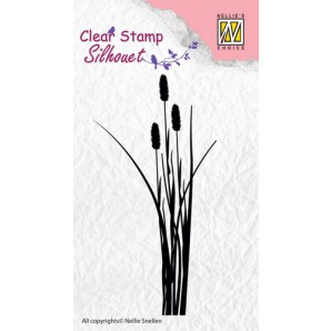 Nellie's Choice Clearstamp - Silhouette ears of grass 2 SIL003