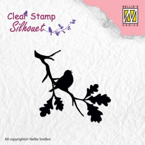 Nellie's Choice Clearstamp - Silhouette birdsong 2 SIL006