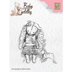 Nellie's Choice Clearstamp - Baby Cuddles Princess Rabbit CSBC001 (08-16)