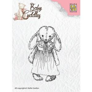 Nellie's Choice Clearstamp - Baby Cuddles Cuddly girl CSBC002 (08-16)