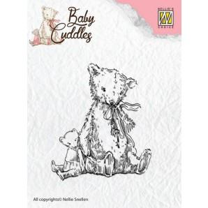 Nellie's Choice Clearstamp - Baby Cuddles Teddybears CSBC004 (08-16)