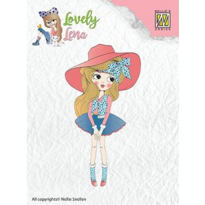 Nellies Choice Clearstempel - Lena met hoed CSLL001