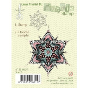 Doodle clear stamp Star 2 550157
