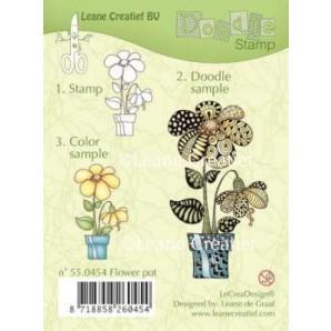 Doodle clear stamp Flower pot 550454
