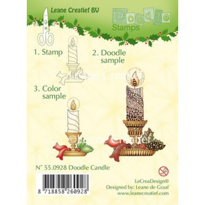 Doodle clear stamp Candle 550928