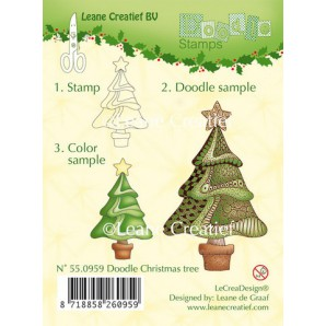 Doodle clear stamp Christmas tree 550959