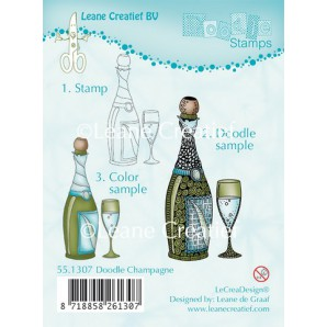 Doodle clear stamp Champagne 551307