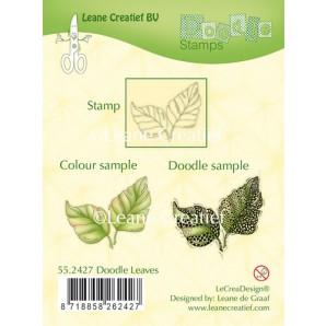 LeCrea - Doodle clear stamp Leaves 55.2427 (08-16)