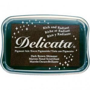 Delicata inktkussen Dark brown shimmer DE-000-354