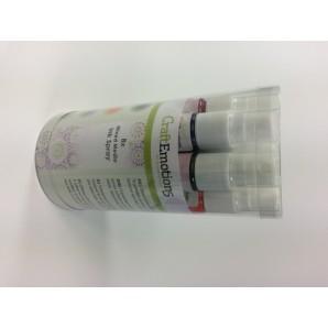 CraftEmotions Ink Spray Set 8st 30ml - Opaque basic