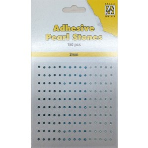 Nellie`s Choice Plak parels 2mm Blauw - Aqua APS203